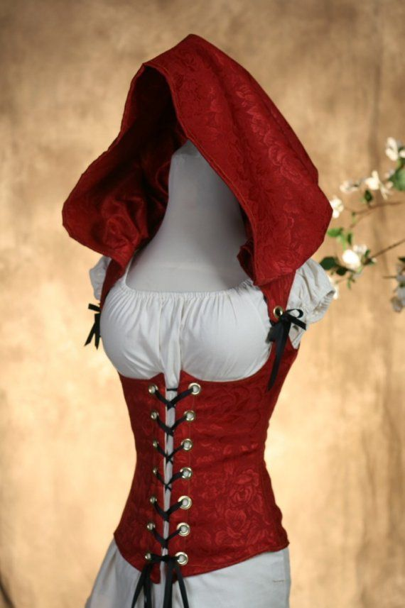Imaginarlo en negro. Picture black! Red Riding Hood Corset                                                                                                                                                                                 Más