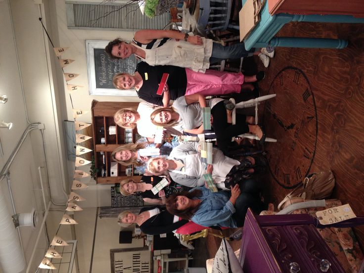 July 2014 a great group of ladies from our Basic + MORE Chalk Paint Workshop at The Passionate Home