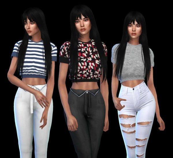 Leo 4 Sims: DS Crop Top recolor • Sims 4 Downloads