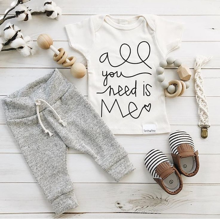 All you need is me love quote | organic baby boy girl newborn clothes | figs and foxes made in USA | macrame pacifier clip | sweet n swag leather baby moccasins | organic cotton baby leggings harems gray grey | wooden bannor toys | chewable charm silicone wood teething toy | flatlay baby items shower gifts | mom to be | fall baby clothes