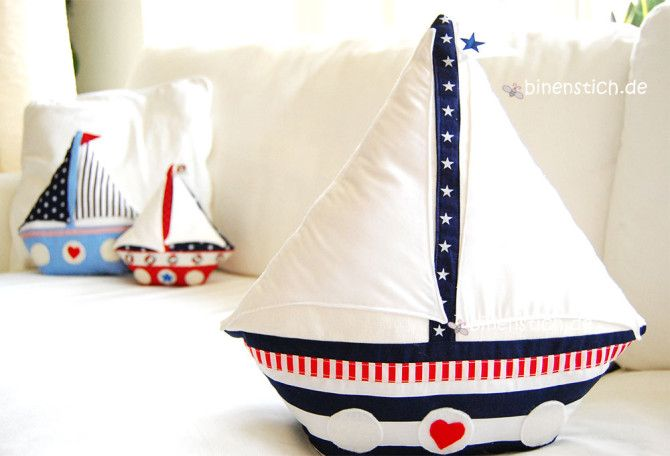 Segelboot nähen: Ebook mit Aneitung ab sofort im Shop erhältlich | binenstichde