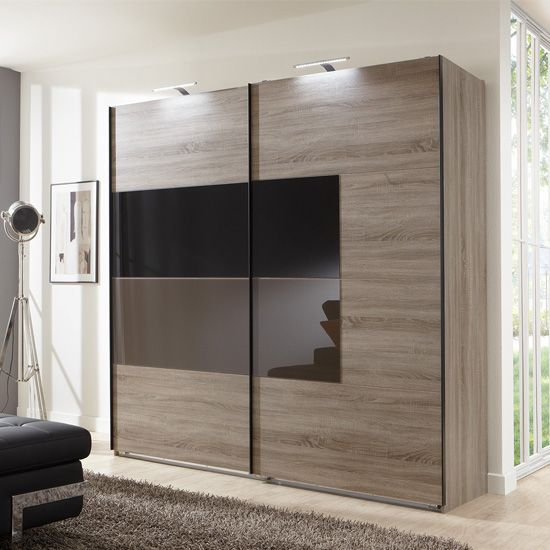 cairo sliding wardrobe with black mocha doors and montana oak dimensions the overall