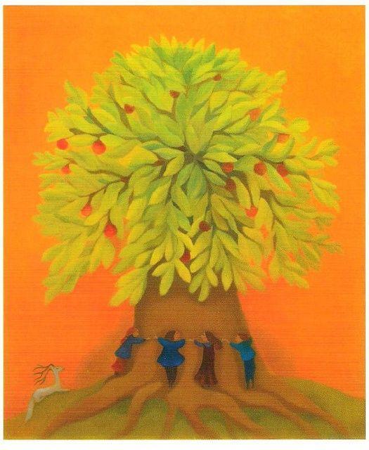 Pennsylvania Dutch Tree of Life Art | Anna-Liisa Hakkarainen. Tree of Life