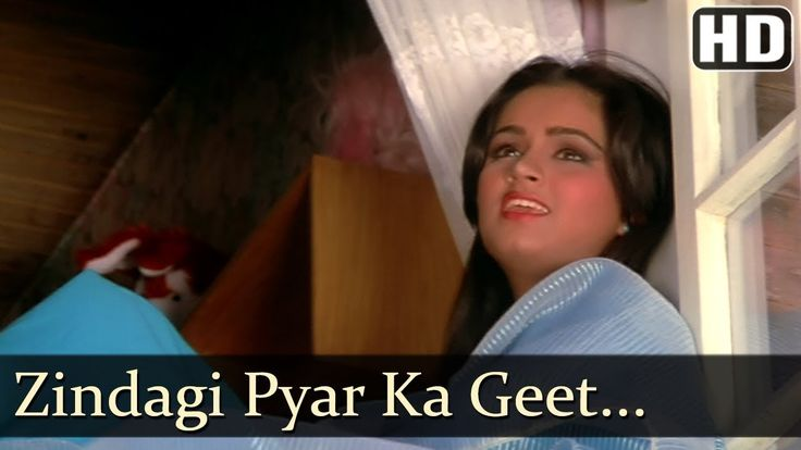 Zindagi Pyar Ka Geet Hai - Padmini Kolhapure - Souten - Old Hindi Songs {HD} - Lata Mangeshkar - YouTube