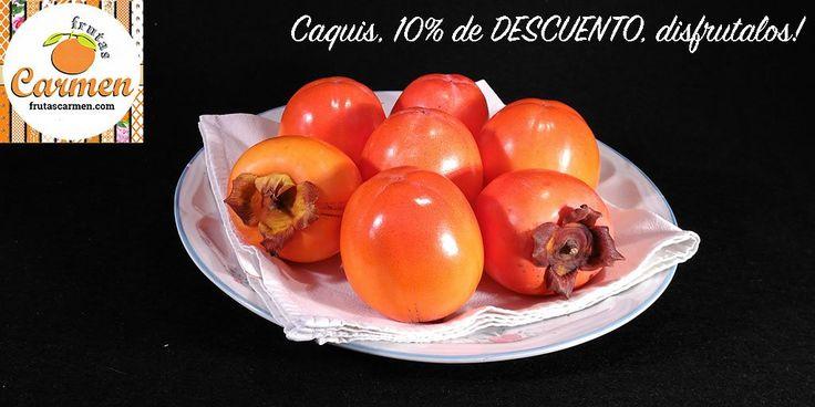 Es tiempo de caquis: DISFRUTALOS! 10% de DESCUENTO en fruta madurada naturalmente y recién recolectada. #caquis #compraonline #kakis #agricultura