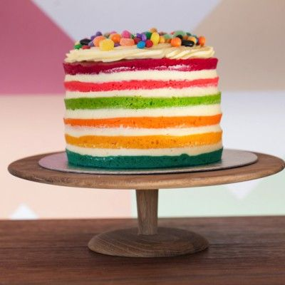 rainbow naked cake   the velvet cake company   cape town   south africa