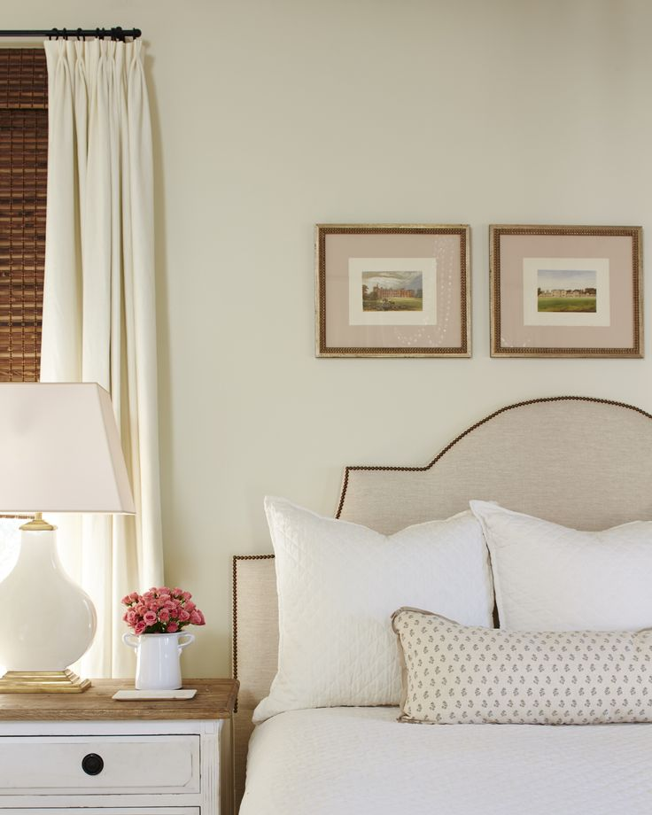 Light and feminine this airy bedroom adds