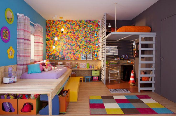 Cameră pentru doi copii – fată și băiat |  kids room boy & girl