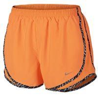 Nike Tempo Shorts - Women's - Orange / Black