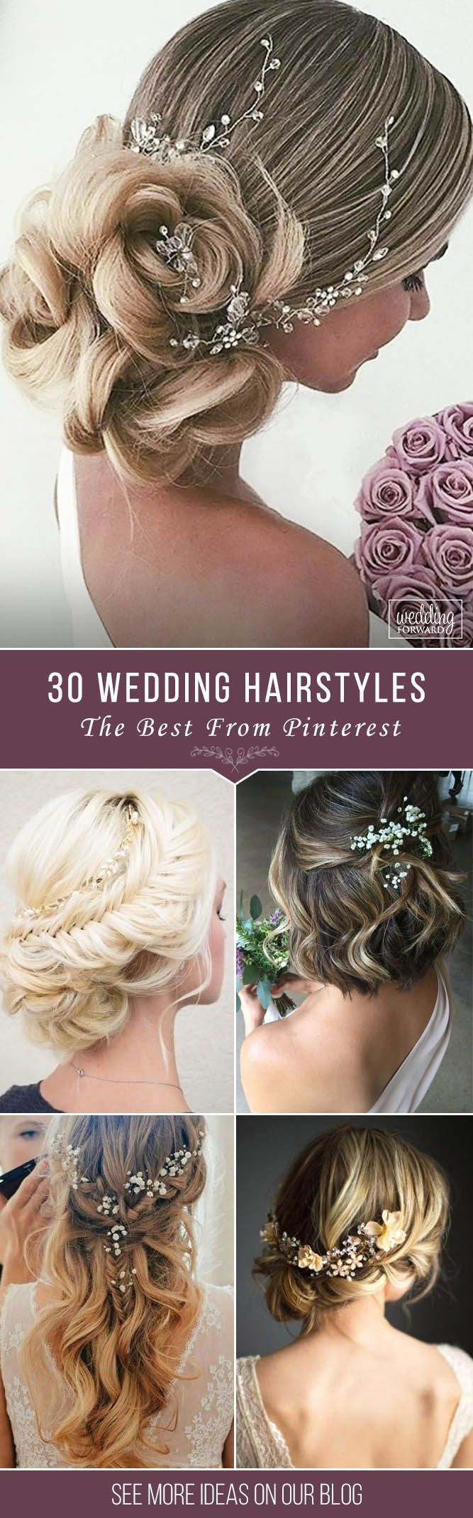 30 Pinterest Wedding Hairstyles For Your Unforgettable Wedding  ❤ If you are interested in elegant and gorgeous wedding hairstyle for your perfect big day, welcome to check out these pinterest wedding hairstyles. See more: http://www.weddingforward.com/pinterest-wedding-hairstyles/  #wedding #hairstyles #HairstylesForWomenIndian