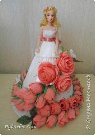 Свит-дизайн День рождения Моделирование конструирование Кукла свит Бумага гофрированная Продукты пищевые фото 1