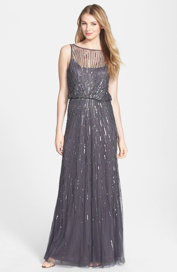 Aidan Mattox mesh gown - see more at http://themerrybride.org/2014/06/17/mother-of-the-bridegroom-dress-options/