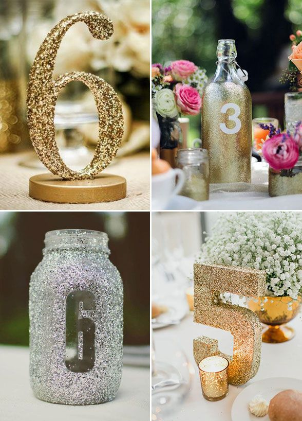 who says table numbers have to be boring for a hint of glamour give them