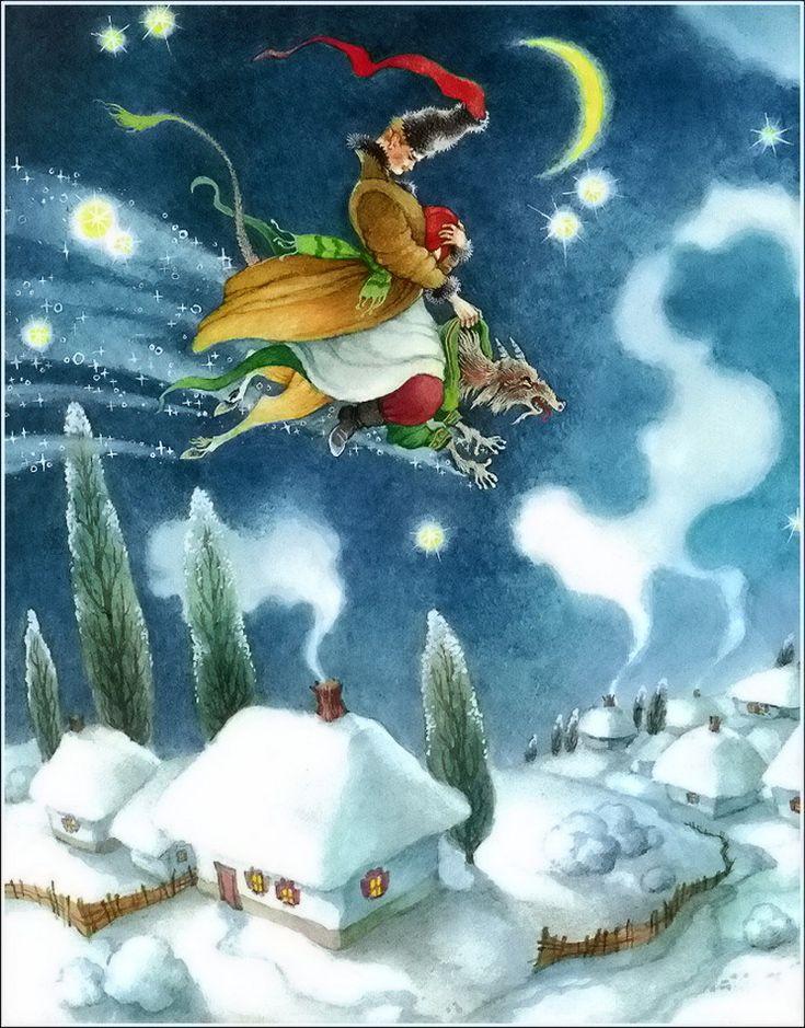 Ночь перед Рождеством в иллюстрациях Ольги Ионайтис - Все интересное в искусстве и не только.