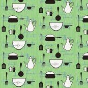 50's kitsch-en fabric by Cynthiafrenette