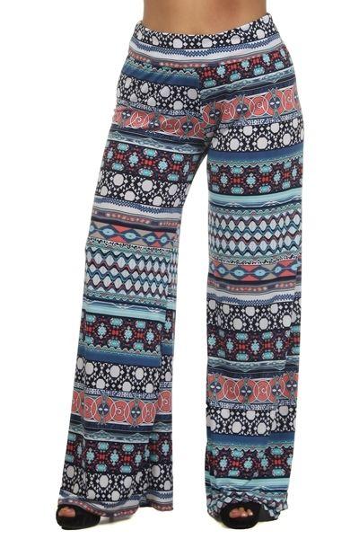 Kelly Brett Boutique: Women's Online Clothing Boutique - Plus Size Palazzo Pants Mandala Royal, $32.00 (http://www.kellybrettboutique.com/plus-size-palazzo-pants-mandala-royal/)