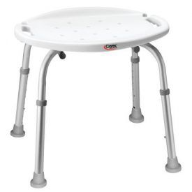 Have stability in the bathroom with the Carex Adjustable Bath and Shower Seat. This seat is designed for assistance in the bathroom, shower and more. It easily fits inside the bathtub. It features strong flared, aluminum legs with slip-resistant rubber tips, and it offers a firm grip and stability during use. The molded-in areas in […]