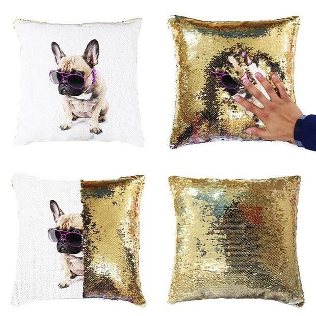 Personalised Sequin Pillow Cover