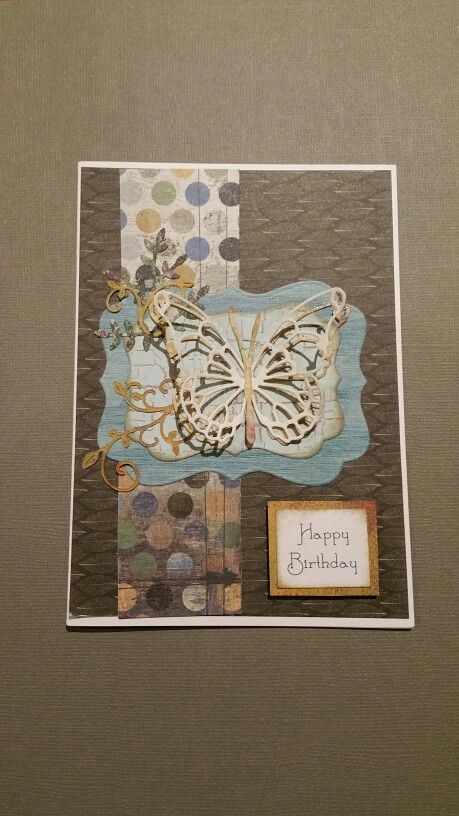 Die cut butterfly doubled up