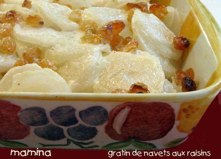 """Restaurant Troigros et un """"gratin"""" de navets nouveaux aux raisins secs"""
