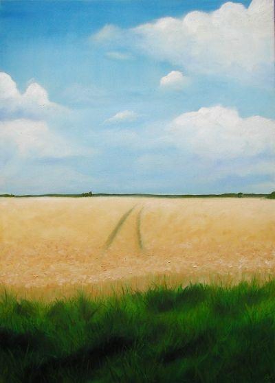 Wiebke Müller , Fields - oil on canvas