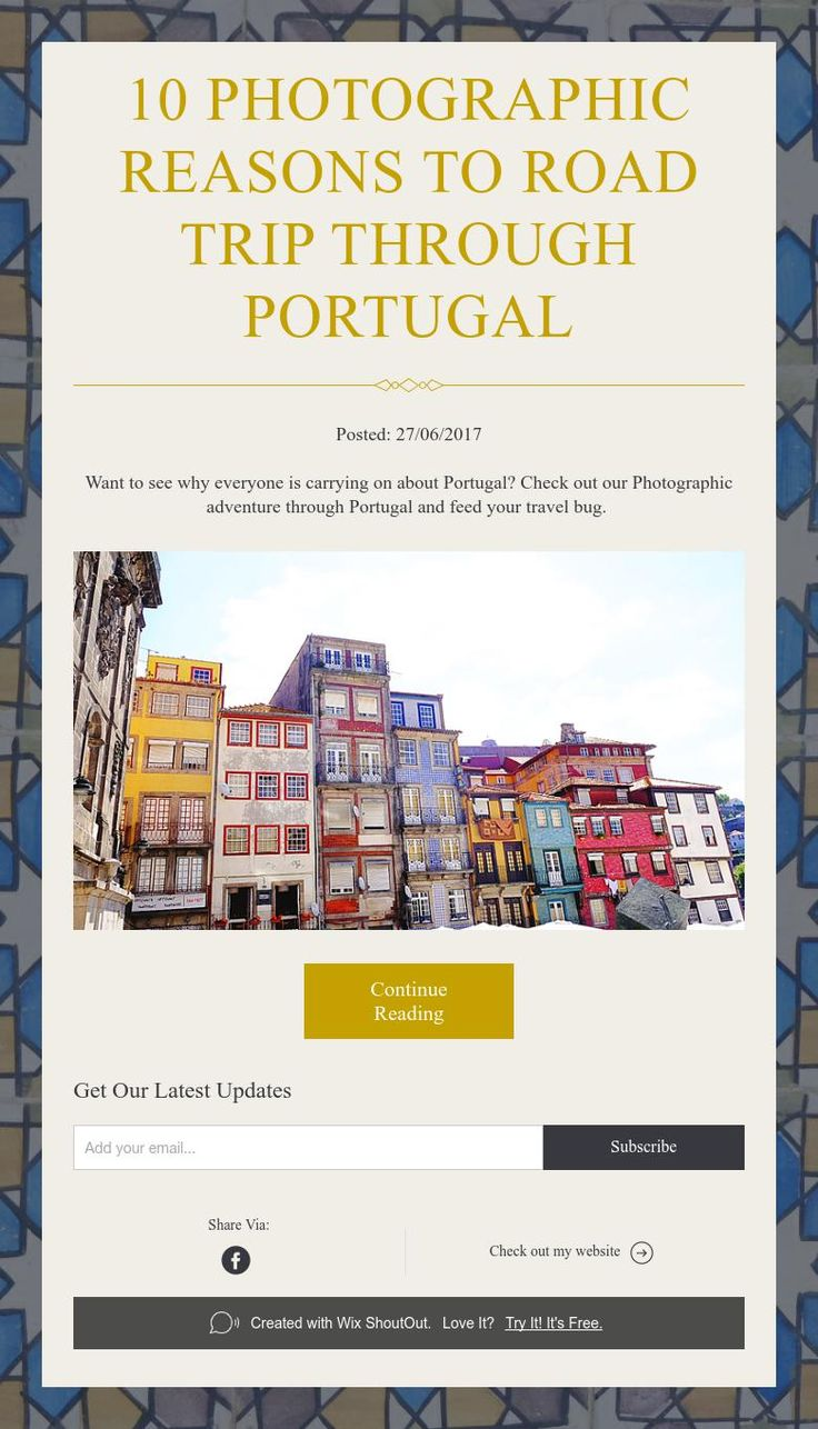 10  Photographic reasons to road trip through Portugal