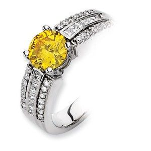 14kw Emma Grace Round Cultured Diamond Ring - SalmaJewelry.com  $8,012.04