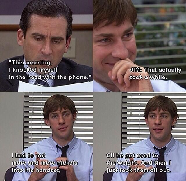 The Office haha classic jim.   Read More Funny:    http://wdb.es?utm_campaign=wdb.esutm_medium=pinterestutm_source=pinterst-descriptionutm_content=utm_term=