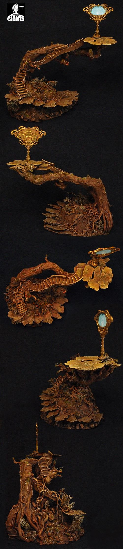 Dark Elves Terrain with Medusa Mirror