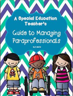 As a special education teacher I work with a variety of paraprofessionals. Over my four years as a special education teacher I have worked w...