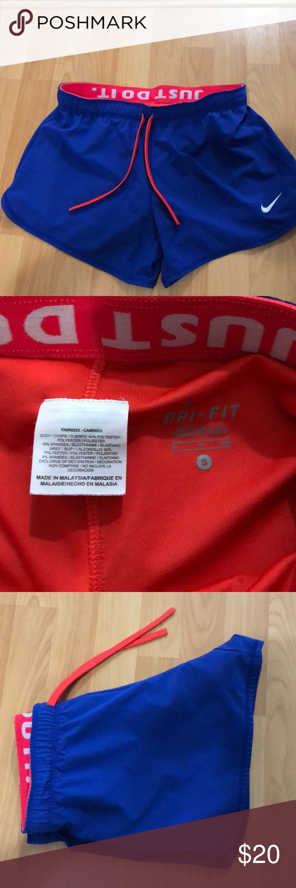 Kleine Nike Athletic Shorts Königsblau und Orange Nike Athletic Nike Shorts. Exce …   – My Posh Picks