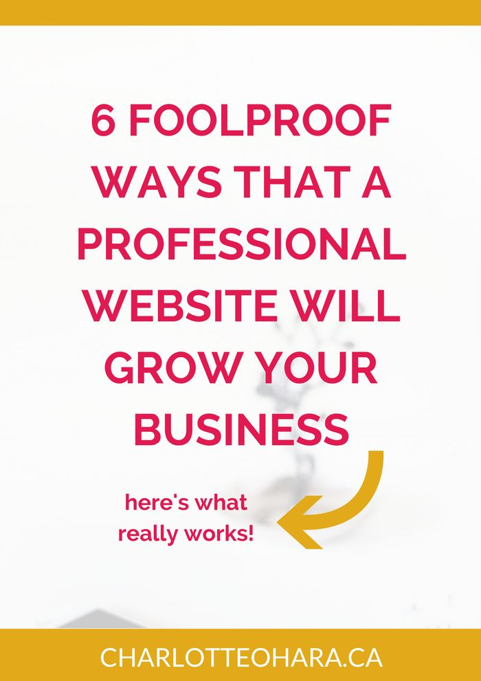 6 Foolproof ways that a professional website will grow your business | There's a difference between a hobby site and a website that supports and grows a business. In this post we are talking about the way a professional website differentiates the two! No matter the industry or type of business you run, having a professional website will be a game changer if you want to increase your bottom line. From legitimacy to SEO to testimonials and social proof, we cover it all! Click...