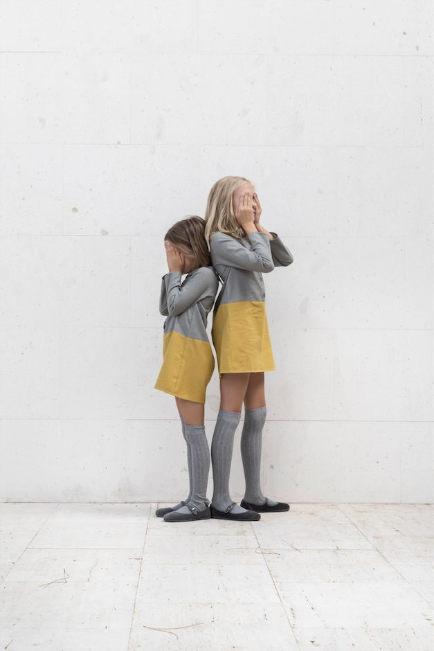 Grey+yellow. #kids #fashion #estella galletasdeante.com Encontrado en galletasdeante.blogspot.com.es
