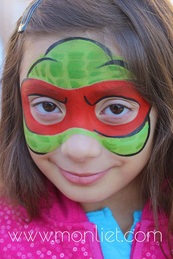 Ninja Turtles | Monliet face paint | heroes/ villains/ characters
