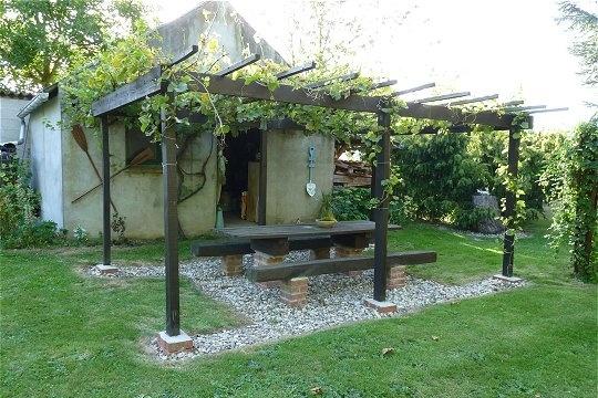 une pergola en bois de récupération En Bois, Garden Ideas, Photo  ~ Photo De Pergola En Bois