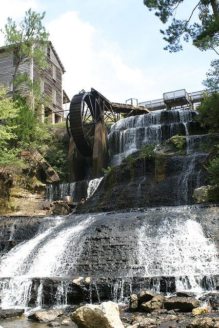 Dunn's Falls, Meridian Mississippi..(been through Meridian many times on the way to other places...never knew about this.  Need to check it out next trip....slj)