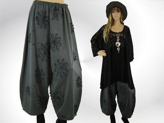 Winter lagenlook   LAGENLOOK ♥ Winterjersey Shirt Ballonhose 3D