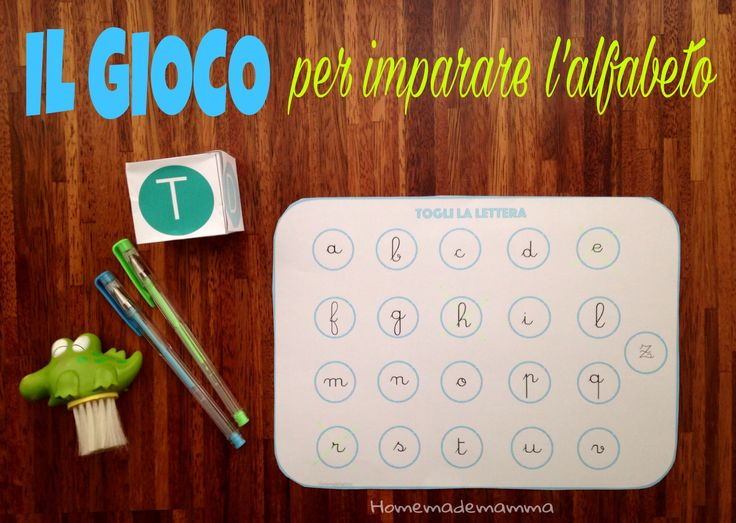 Togli la lettera: il gioco per imparare l'alfabeto