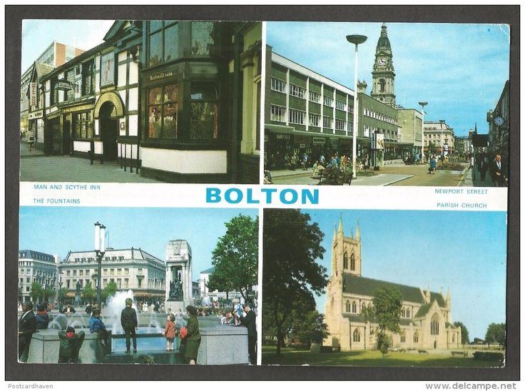 Four Views of Bolton, Lancashire,Photocolour Postcard