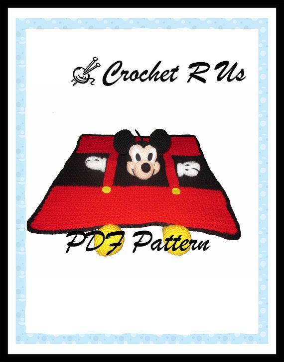 Instant PDF Pattern Crochet Boy Mouse Security Lovey blanket crochet blanket baby blanket kids
