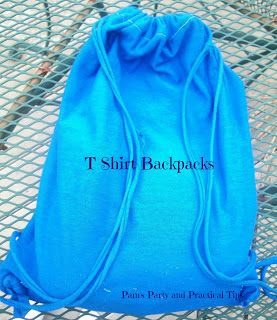 Make Your Own TShirt Backpack