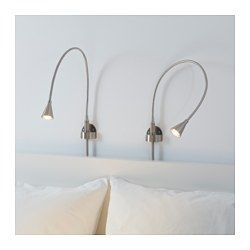 IKEA - TIVED, LED wall/clamp spotlight, , You can easily direct the light where you want it because the lamp arm is adjustable.Slim design. Easy to place in small spaces.The LED light source consumes up to 85% less energy and lasts 20 times longer than incandescent bulbs.The lamp can be mounted in two ways: as a clamp spotlight or as a wall lamp.