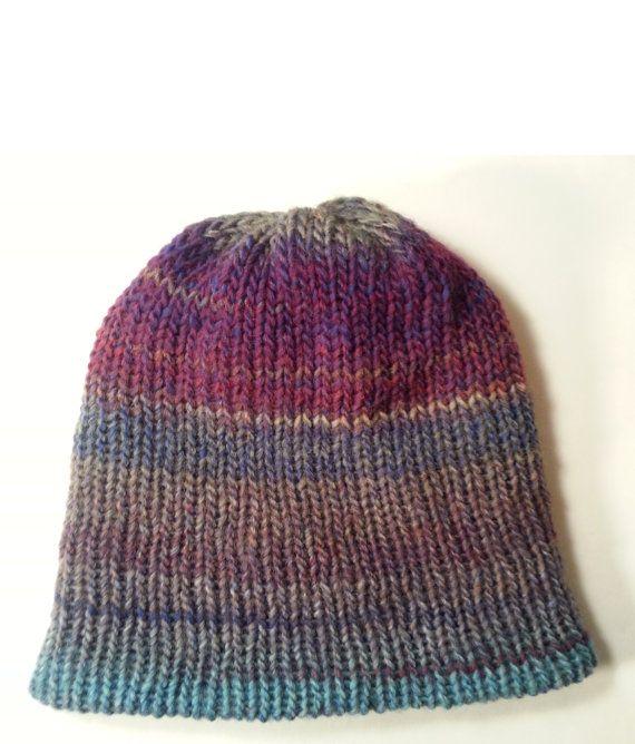 REVERSIBLE Knit Men's Beanie Hat Mens Wool hat Wool by NoraTones #Mensbeanie #beanie #mensknithat #menswoolhat #menshats