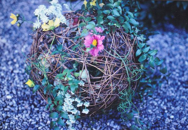 A Big Ball with Fresh Flowers by Kent Florist Mikiko Inoue