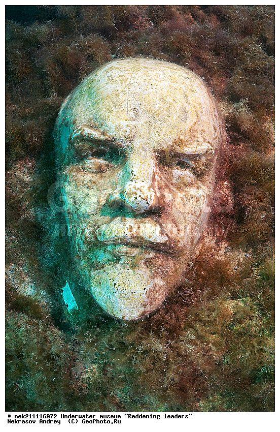 """ALLEY OF LEADERS"", UNDERWATER MUSEUM (Sculpture of Lenin), CRIMEA, 1992"