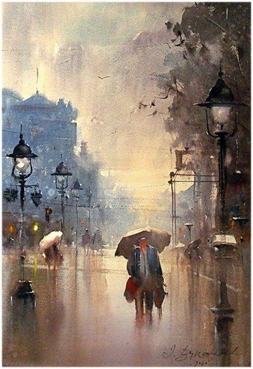 Watercolor by Dusan Djukaric