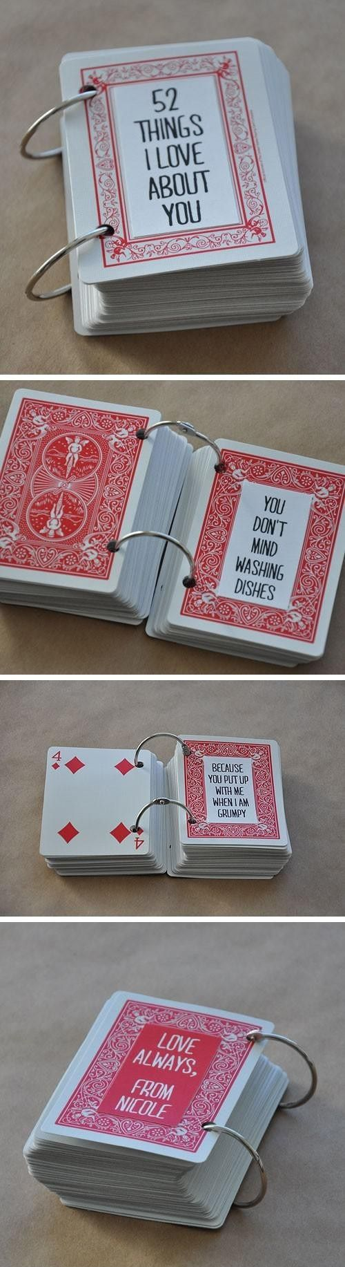 I love this deck of cards as a Valentine's gift! My boyfriend will definetly love these ideas, so try it out yourself as well!