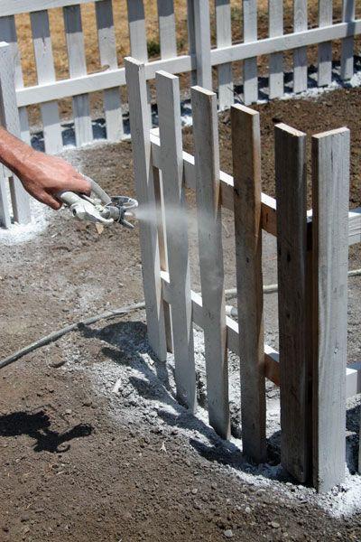 Pallet Picket Fence » Designed on Sunshine