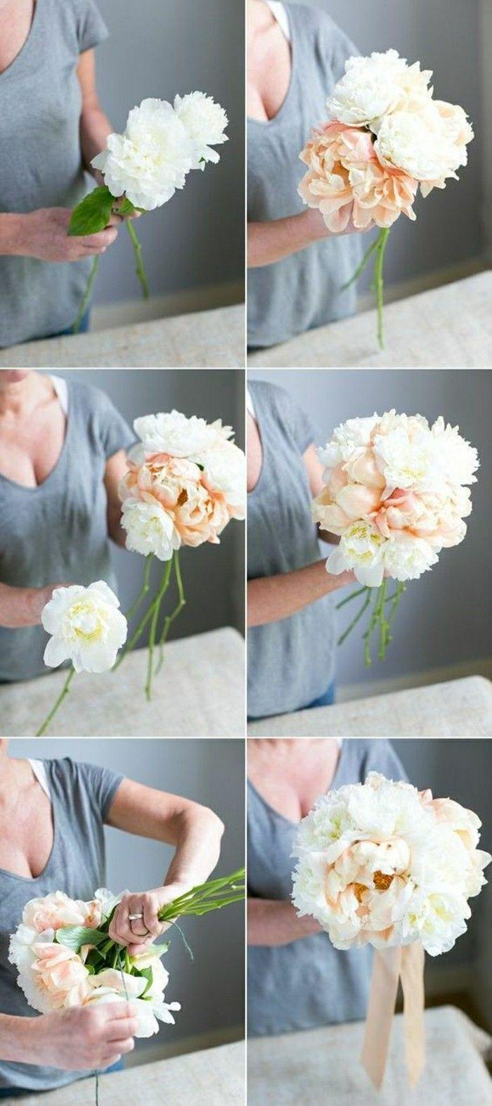 comment se faire vous-memes un bouquet, diy idee déco de table mariage