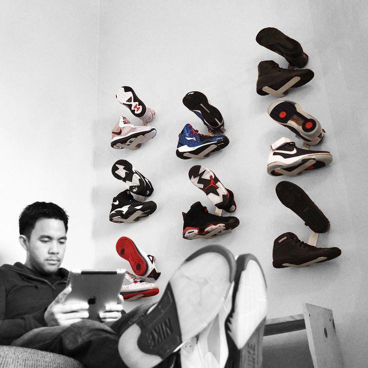 Wall-Mount Sneaker Rack